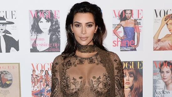 Kim Kardashian Flaunts Baby Weight Loss in Skin-Baring Gown During European Fashion Tour