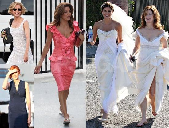 Photos of Eva Longoria, Marcia Cross, Teri Hatcher, Felicity Huffman, Dana Delany on the LA Set of Desperate Housewives