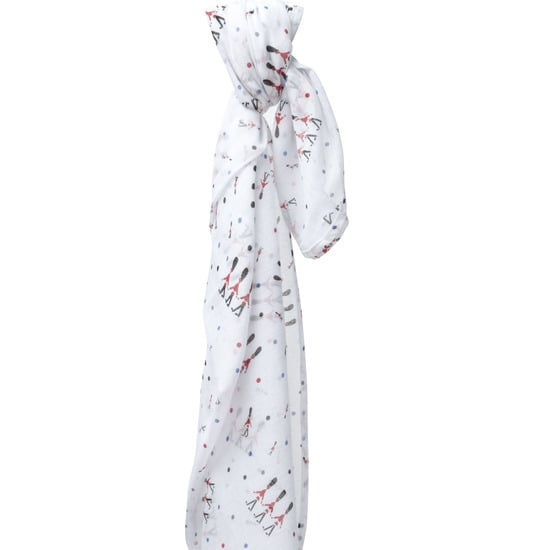 We love muslin baby blankets, so we can't help but fall in love with Piccalilly's Changing Guards cotton swaddling wrap ($20).