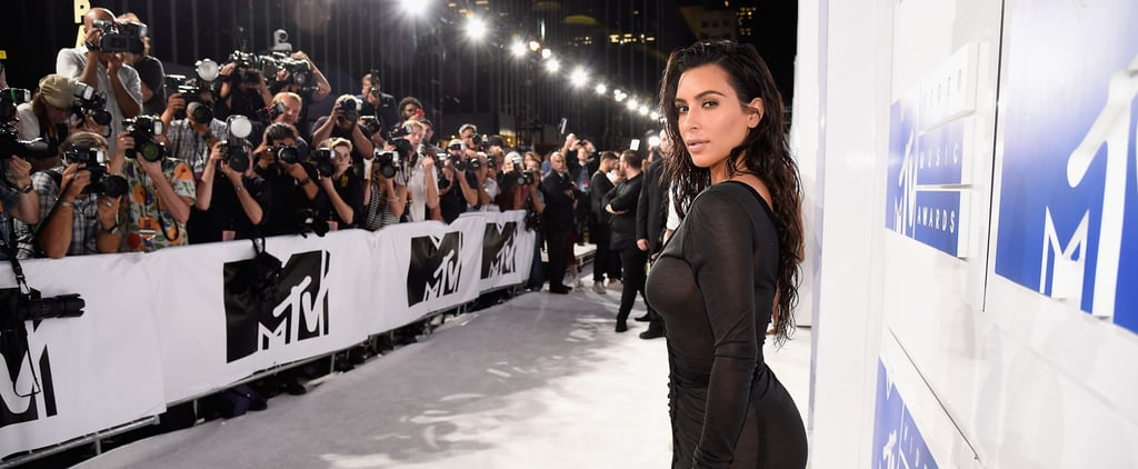 "Kim Kardashian Did the ""Sexy Without Even Trying"" Look at the VMAs, and It Totally Worked"