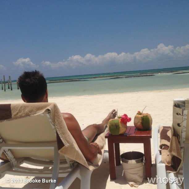 Brooke Burke Charvet and her husband, David Charvet, took a vacation to a tropical beach. Source: Instagram user thebrookeburke