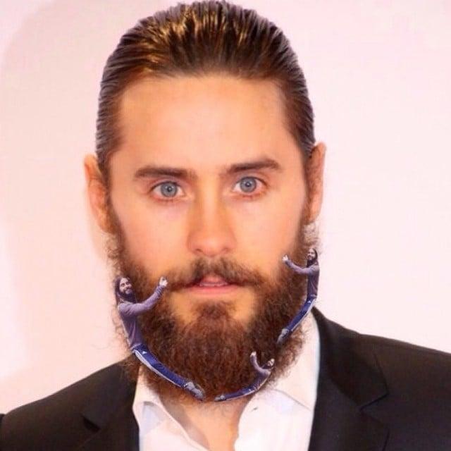Jared Hugging His Beard