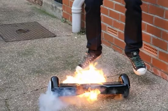 """U.S. Agency Calls Hoverboards An """"Imminent Hazard,"""" Puts Forth New Safety Standards"""