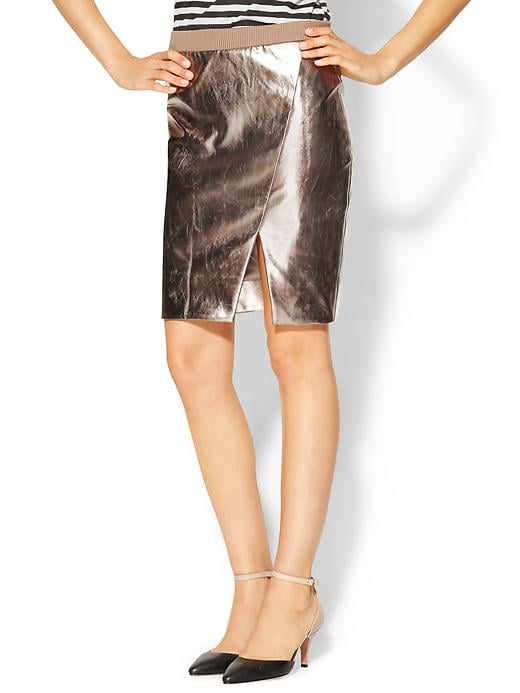 You're guaranteed to stand out in this flashy faux metallic pencil skirt ($50, originally $79).