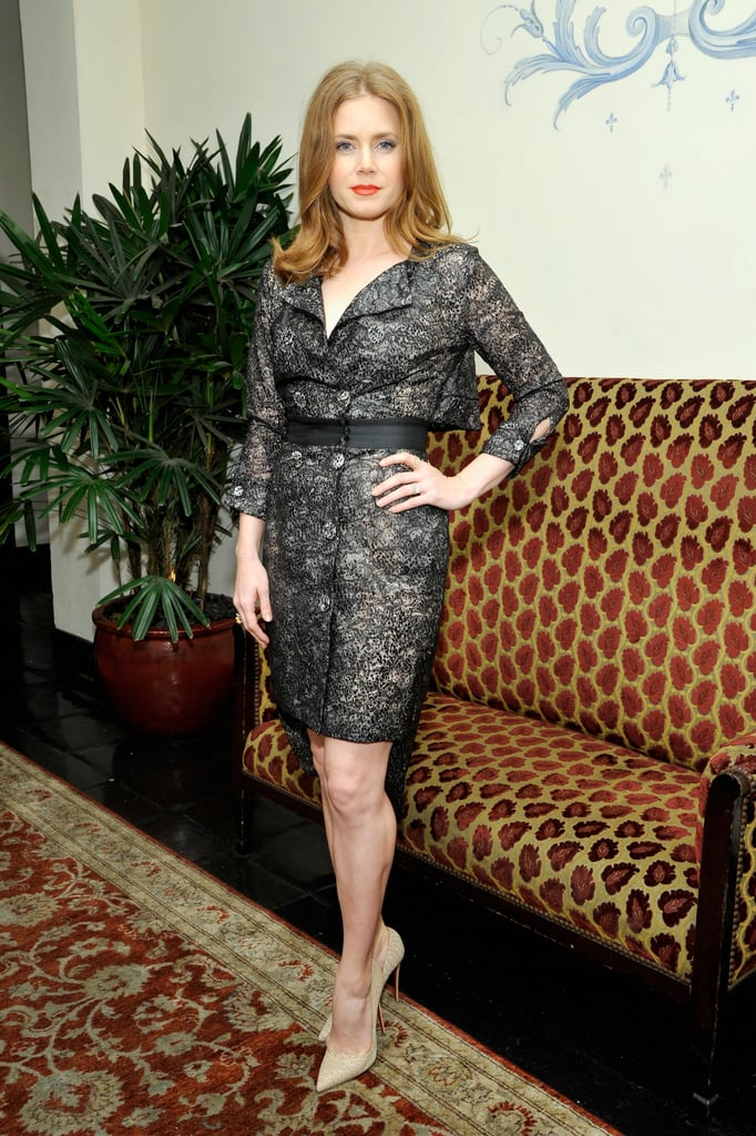 Amy Adams put her fit figure on display.