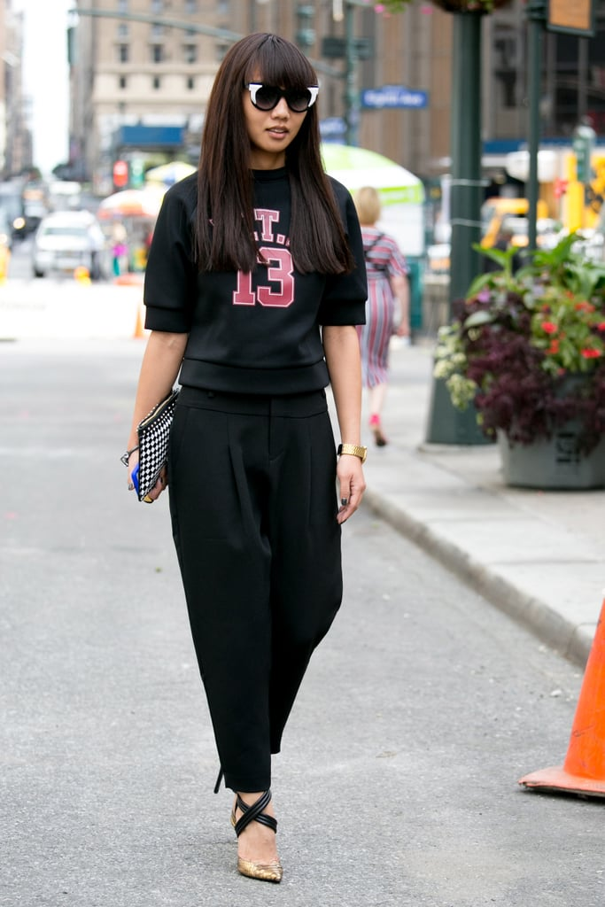 This sporty look was a street style all-star.