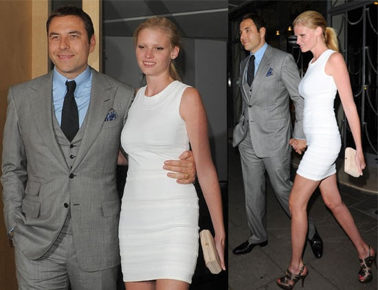 Pictures of David Walliams and Lara Stone Out in London Together