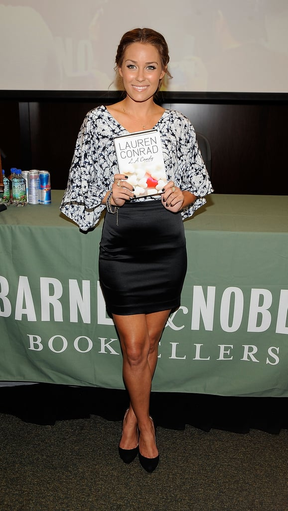 At an L.A. Candy book signing in LA wearing a Gemma top in July 2009.