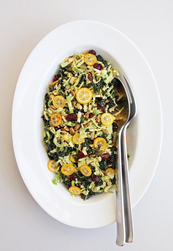 Shredded Kale and Brussels Sprouts Salad With Kumquats