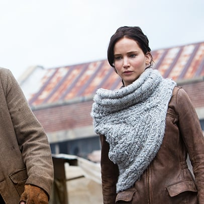 Shop Katniss's Hunger Games Gray Scarf