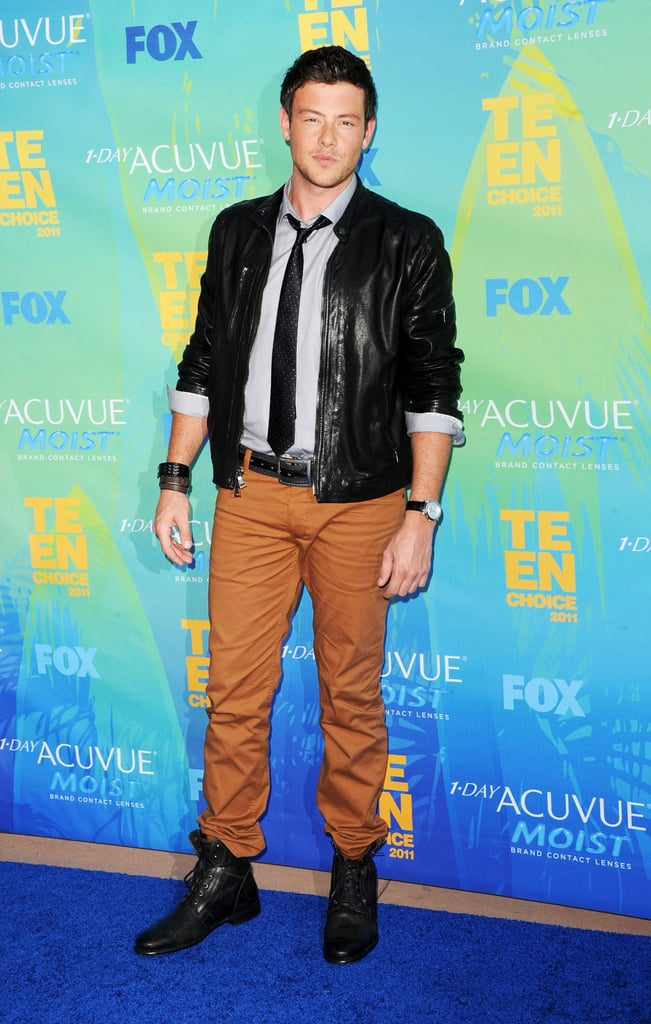 In August 2011, Cory Monteith walked down the blue carpet at the Teen Choice Awards.
