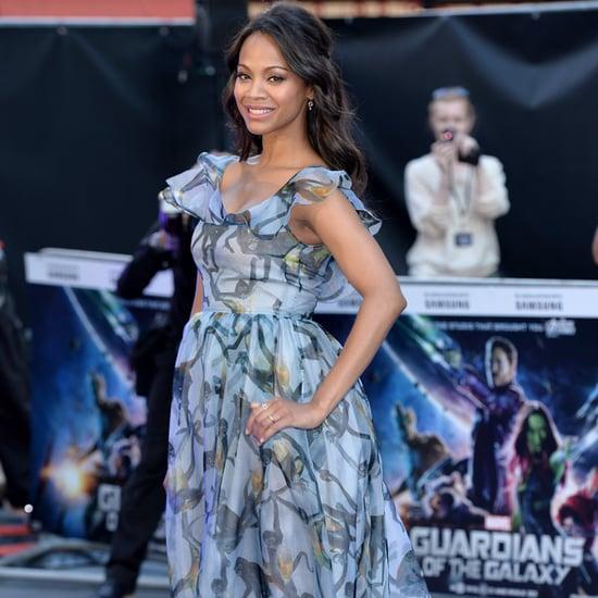 Zoe Saldana Wearing Valentino at Guardians of the Galaxy