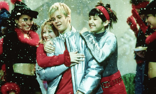 "Aaron performed ""I Want Candy"" on Lizzie McGuire."