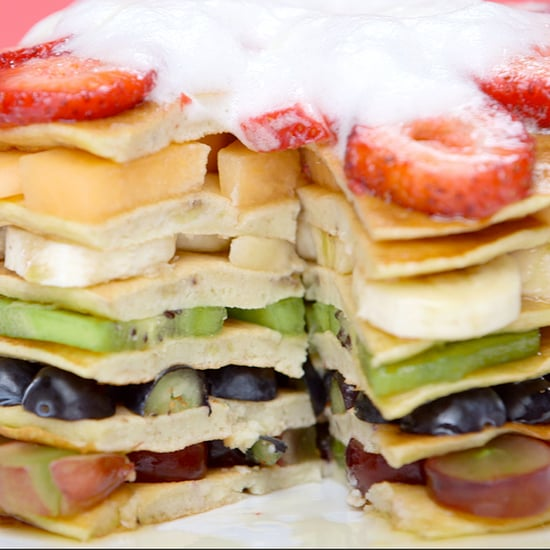 Healthy Rainbow Pancakes