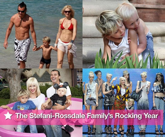 Slide Show of Gwen Stefani, Gavin Rossdale, Zuma Rossdale and Kingston Rossdale in 2010