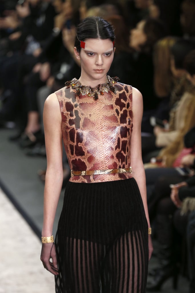 Kendall worked it on the Givenchy Fall 2014 catwalk at Paris Fashion Week.