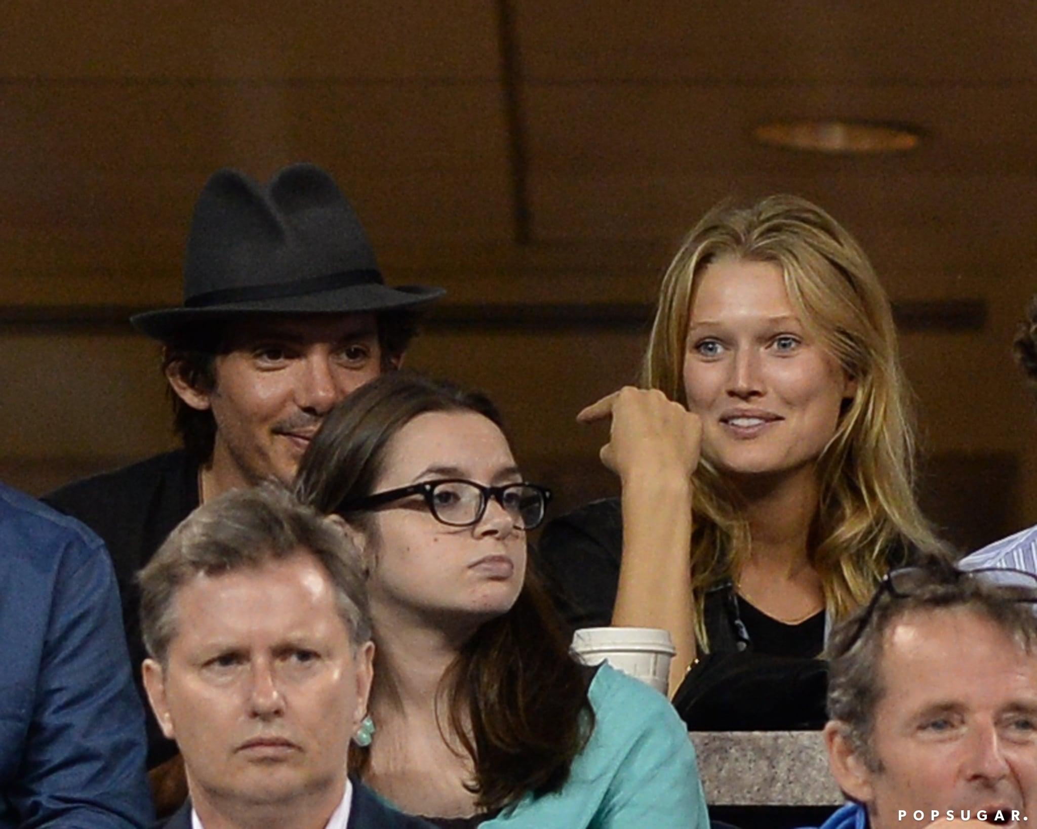 Lukas Haas sat next to Leonardo DiCaprio's girlfriend, Toni Garrn.