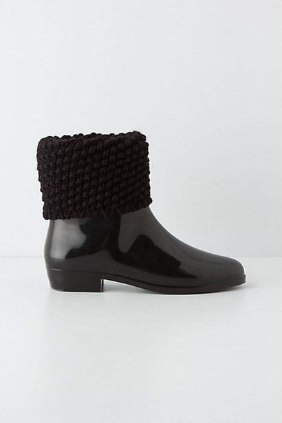 We love how cozy these Melissa Sweaterfold Rain Boots ($135) look — with the chunky texture on top and glossy finish, it's the perfect complement to a layered look.