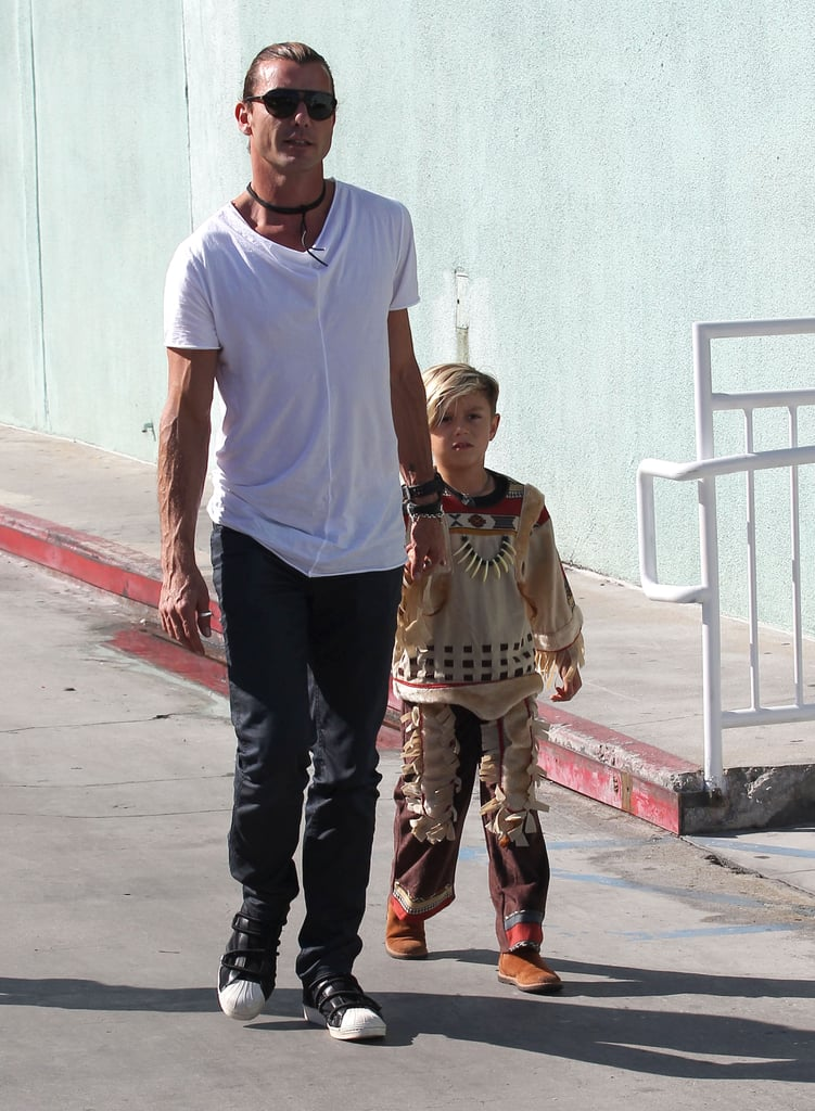 Gavin Rossdale stepped out with eldest son Kingston in LA.