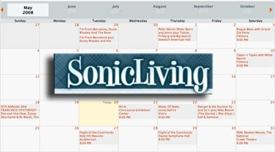 Website Sonic Living Is a Social Network For Music and Concerts