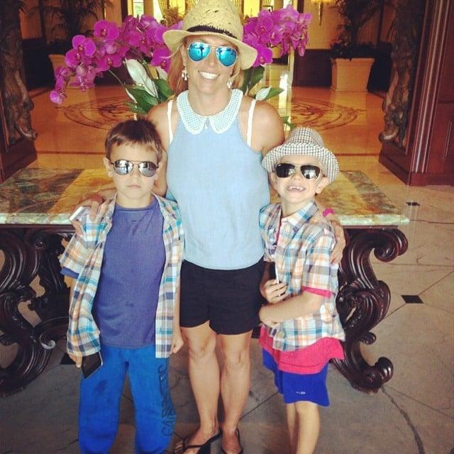 Britney took a photo while grabbing brunch with her sons, Jayden and Sean Federline, on Friday.  Source: Instagram user britneyspears