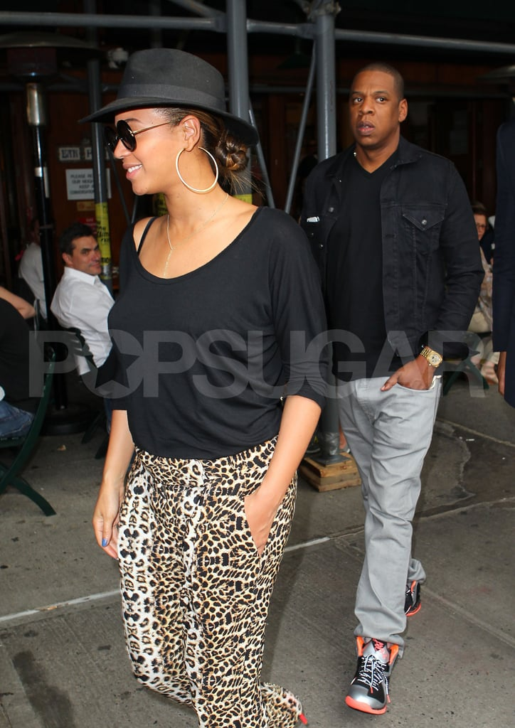 Beyoncé Knowles and Jay-Z left Bar Pitti in NYC after lunch.