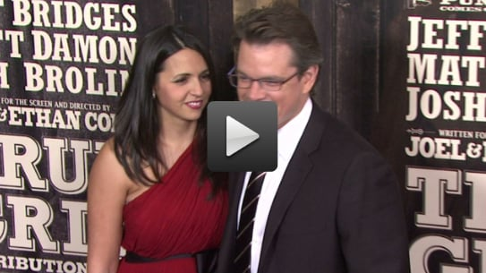 Video of Matt Damon and Luciana at the True Grit Premiere in New York