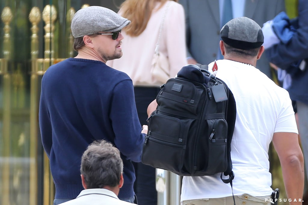 Leonardo DiCaprio landed in Nice, France, on Tuesday for the Cannes Film Festival.
