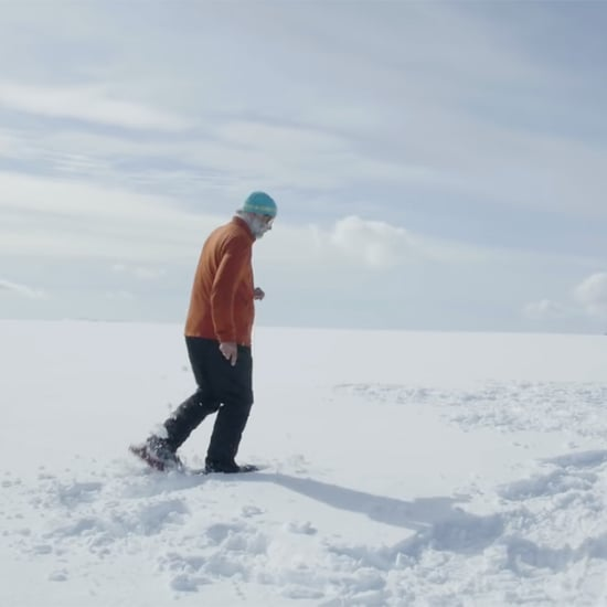 Snow Artist Walks 40,000 Steps