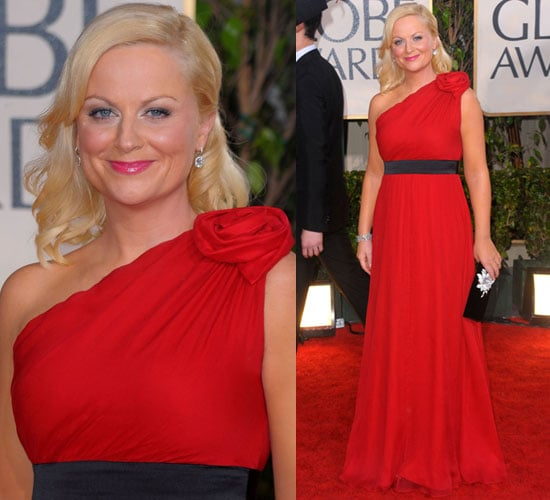 Amy Poehler in Jay Godfrey at 2010 Golden Globes Awards