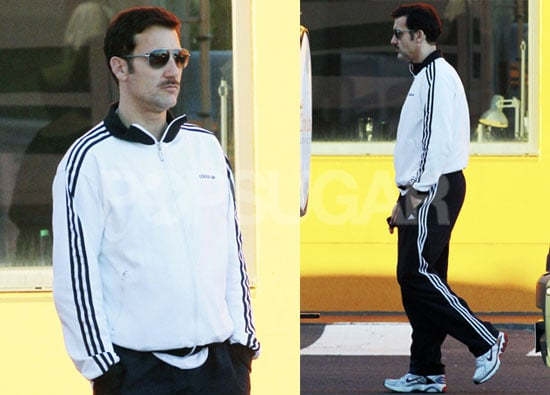 Pictures of Clive Owen With a Mustache Filming The Killer Elite in Melbourne