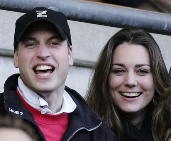 February 2007: Watching Six Nations Championship England vs Italy with Prince William