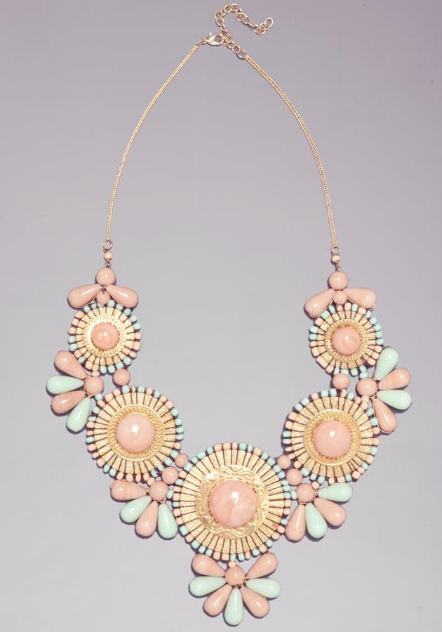Bebe Tribal Gems Bib Necklace ($49)