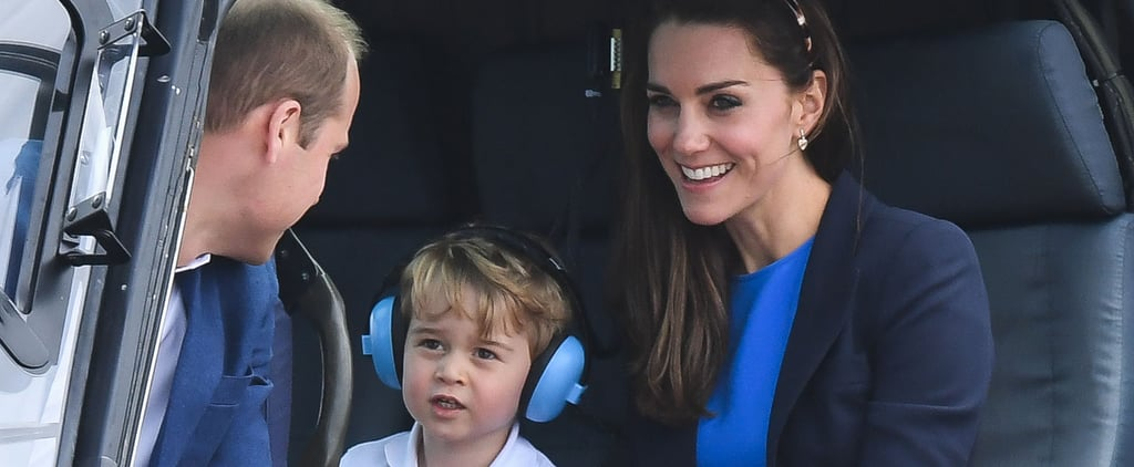 Prince George Is THE Cutest While Catching a Helicopter Ride With His Mum and Dad