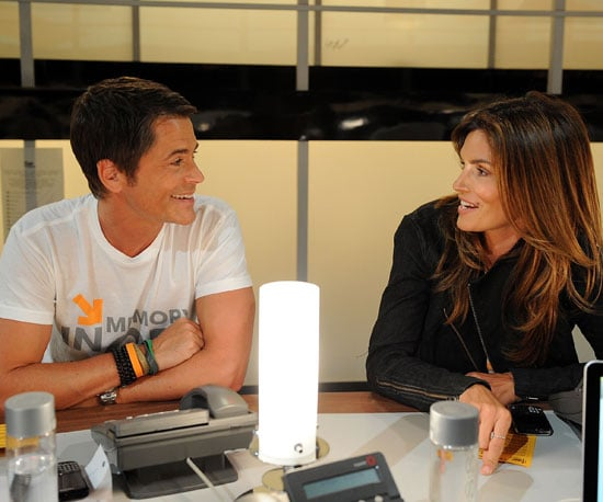Slide Picture of Rob Lowe and Cindy Crawford at the Stand Up to Cancer Event in LA