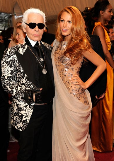 Karl Lagerfeld and Blake Lively