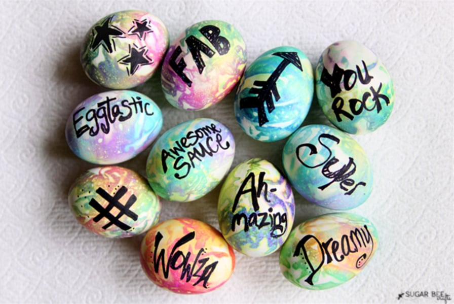 Tie Dye – Typography Easter Eggs