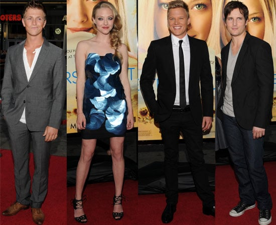 Pictures of Amanda Seyfried, Charlie Bewley, Chris Egan and Peter Facinelli at Hollywood Letters to Juliet Premiere