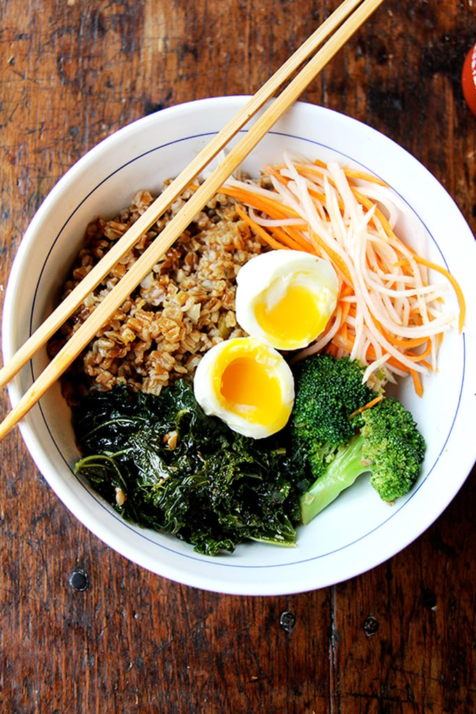 Leftover Greens and Grains Bowl