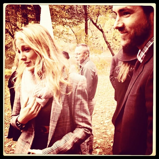 Blake Lively and Ryan Reynolds attended Amber Tamblyn's wedding in NYC in October 2012.  Source: Instagram user questlove