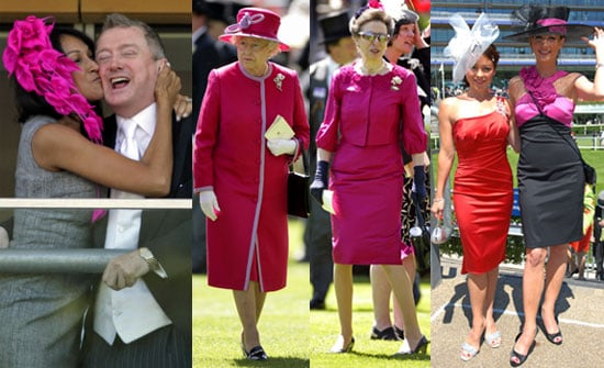 Pictures of the Queen, Princess Anne, Louis Walsh, Jackie St Clair, Lisa Scott-Lee, Faye Tozer, Hats at Royal Ascot 2010 Day Two