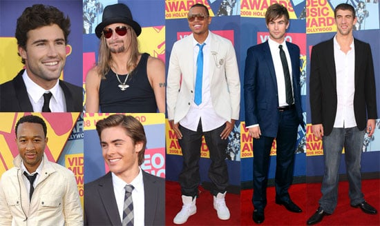 Photos of Chace Crawford, Chris Brown, Kid Rock, Lil Wayne, Michael Phelps, Zac Efron and More Guys at the 2008 VMAs