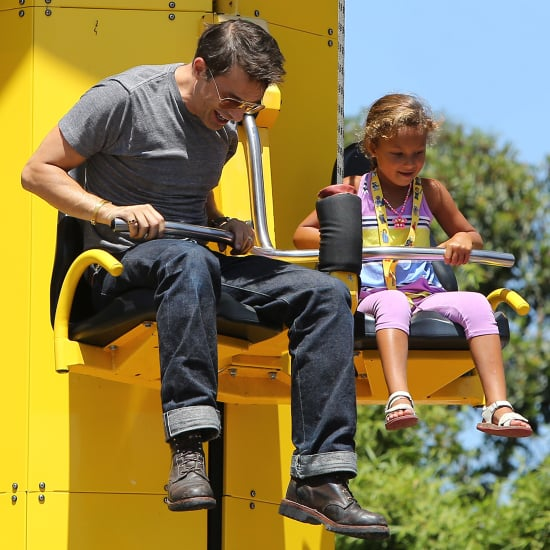 Olivier Martinez and Halle Berry at Legoland With Nahla