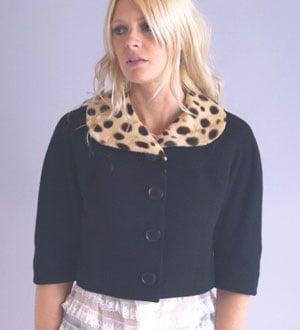 Vintage leopard collar jacket