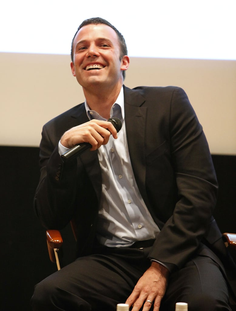 Ben Affleck let out a big smile at the Gimme Shelter campaign kickoff at NYC's United Nations building in December 2008.