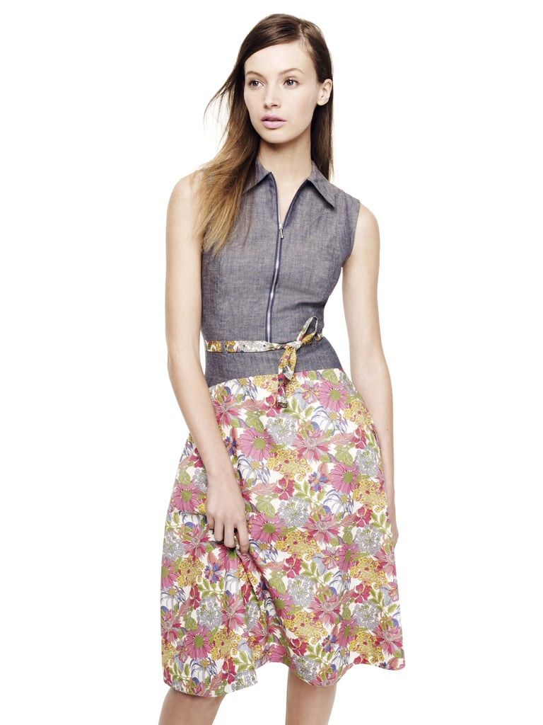 This floral zipped dress is the perfect mix of vintage and modern.  Creatures of the Wind Sleeveless Zip Dress ($350)