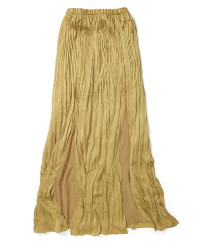 This versatile pleated maxiskirt can be dressed up or down depending on your accessories of choice. We'd personally like to pair it with a white v-neck and flats for an understated bohemian vibe.  Club Monaco Adela Pleated Skirt ($140)