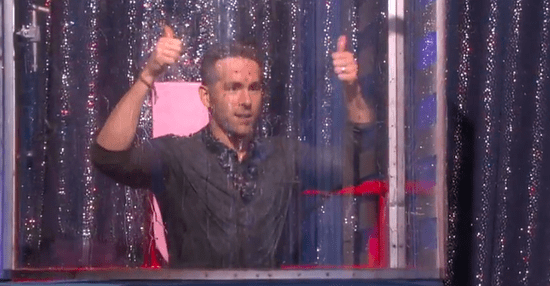 "Ryan Reynolds Got Dunked On ""Ellen"" To Raise Money For Make-A-Wish Foundation"