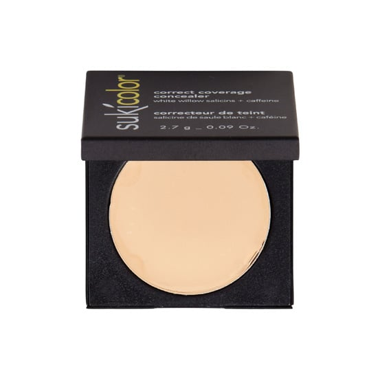Suki Correct Coverage Concealer ($30) is a rich option that delivers coverage without the parabens and other chemicals typically used in cream and stick makeup. Plus, it has caffeine to fight puffiness and salicylic acid to smooth away bumps and swelling.
