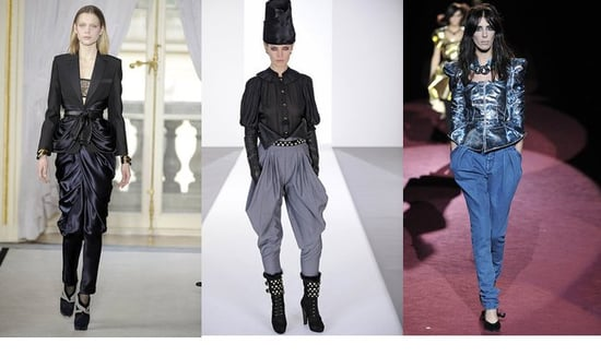 Fall 2009 Trend Report: Draped Trouser, Strong Shoulder